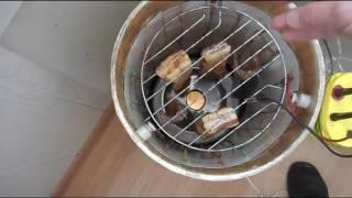 Коптильня своими руками. Ч.2 Электростатическое копчение (холодное)(В видео показан процесс электростатического копчения в коптильне для квартиры, сделанной своими руками...., 2017-02-27T13:13:01.000Z)