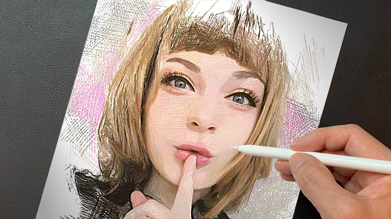 Drawing Ella Freya エラ・フレイヤ | Speed Drawing | Procreate art | イラストメイキング | How to Painting | ArtyCoaty