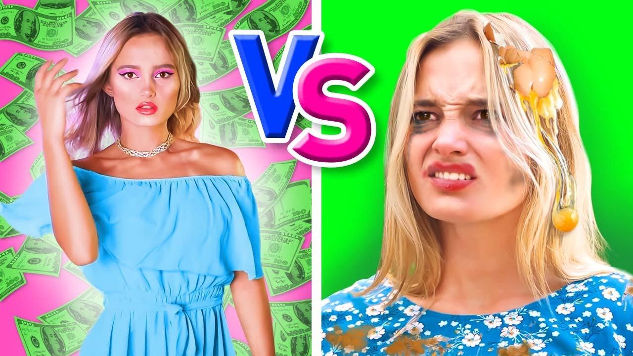 RICA y popular vs. POBRE e impopular - CHICAS VS. CHICOS en la Villa   Graciosadas por La La Vida