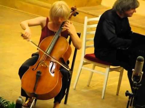 Natalia Khoma, cello Volodymyr Vynnytsky, piano, Popper, Hungarian Rhapsody