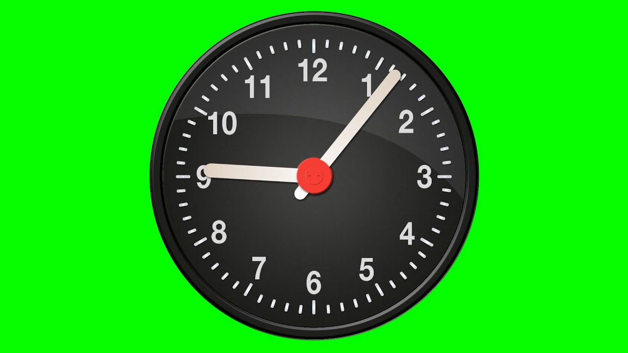 Clock - Green Screen Animation - YouTube