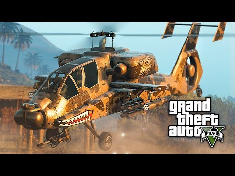 GTA 5 - NEW $4,500,000 HUNTER ATTACK HELICOPTER!! (GTA 5 Online Hunter DLC Update)