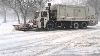 COMPILATION OF DSNY, NEW YORK CITY DEPARTMENT OF SANITATION, PLOWING AWAY DURING WINTER STORM JONAS.