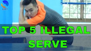 Top 5 Illegal Service in Table Tennis