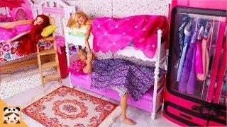 인형놀이 드라마 이층 침대 아침 일상 밀착중계 인어공주 바비 장난감 놀이 드레스 옷입히기 Barbie Ken Mermaid Bunk Bed Morning Routine |보라미TV