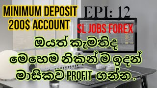 online jobs/ sl jos forex /online jobs in sri lanka minimum deposit 200$ account EPI 12