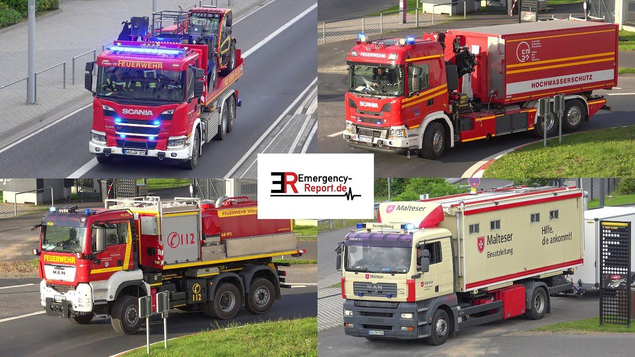 [Hochwasser-Katastrophe in Rheinland-Pfalz] - Viele Einsatzfahrten am Nürburgring -