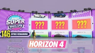 Opening 150 SUPER WHEELSPINS & Wheelspins in Forza Horizon 4!?