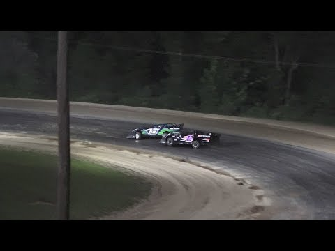 A Feature 1 (30 Laps): 64-Jack Emmons, 21D-David Hilliker, 55-Michael Archer, 6R-Carl Ries, 25-Jimmy Gallagher, 14N-Tyler Norton, 13-Scott Baker, ... - dirt track racing video image