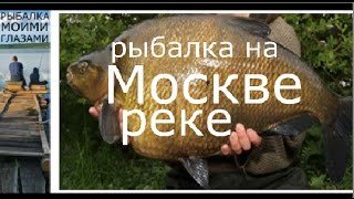 Рыбалка на Москве реке, лещ на фидер,ловля леща на макароны