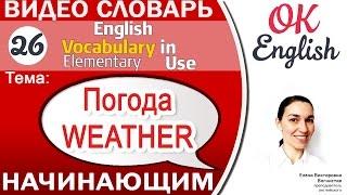 Тема 26 Weather - Погода. Как говорить о погоде для начинающих   | OK English