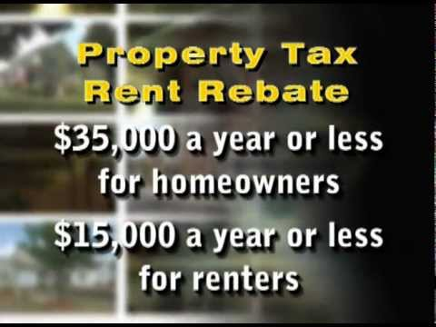 Property TaxRent Rebate Applications Now Accepted  Youtube