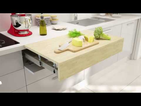 Flip Out Kitchen Counter Table