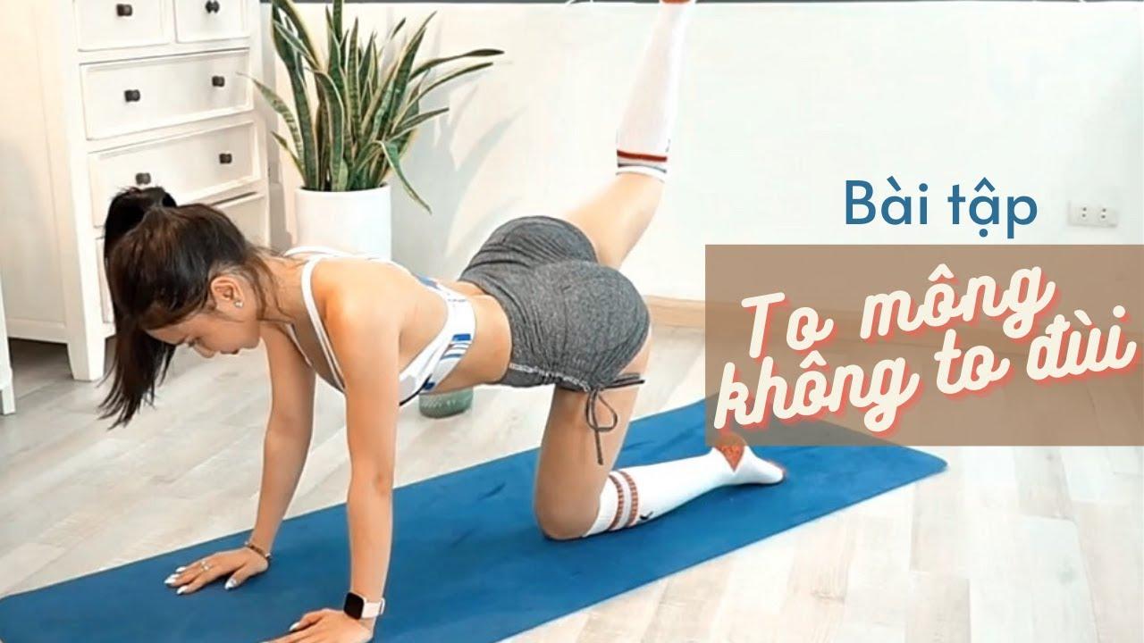 bài tập MÔNG TO ĐÙI THON tại nhà hiệu quả sau 2 Tuần tập luyện    Trang Le Fitness