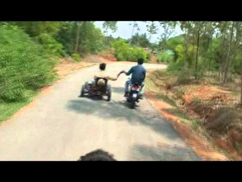 three wheeler made at GT car services, Malleshwaram, Bangalore