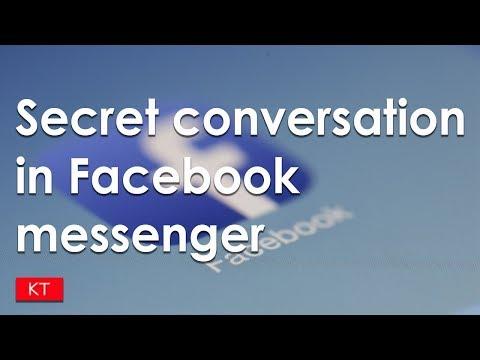 How to have secret conversation on Facebook messenger - message deletes itself