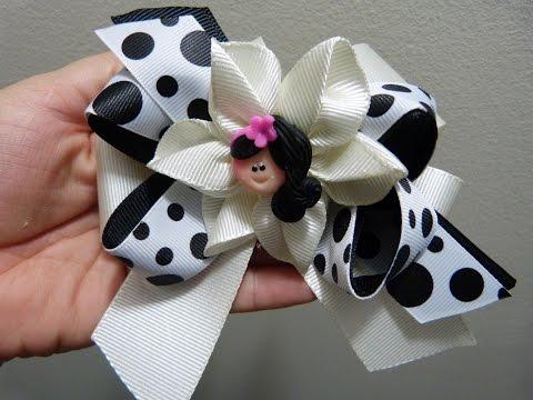 flores,y moños en cinta , accesorios para el cabello, PaP, LAÇO ...
