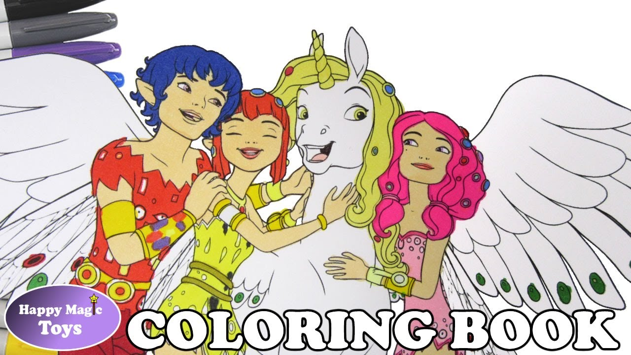 Mia and me coloring book pages mia onchao