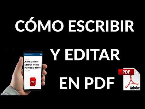 Cómo Escribir o Editar un Archivo PDF
