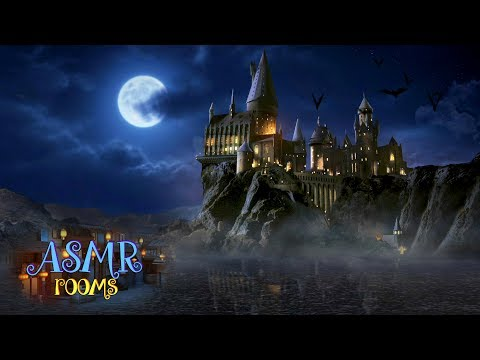 Great Lake at Hogwarts Castle - Harry Potter ambience - soothing lake waves, light rain and wind
