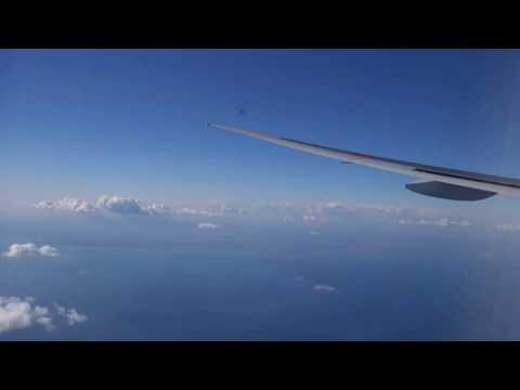 ALL NIPPON AIRWAYS BOEING 777-300er smooth landing at Narita International Airport, Tokyo, Japan