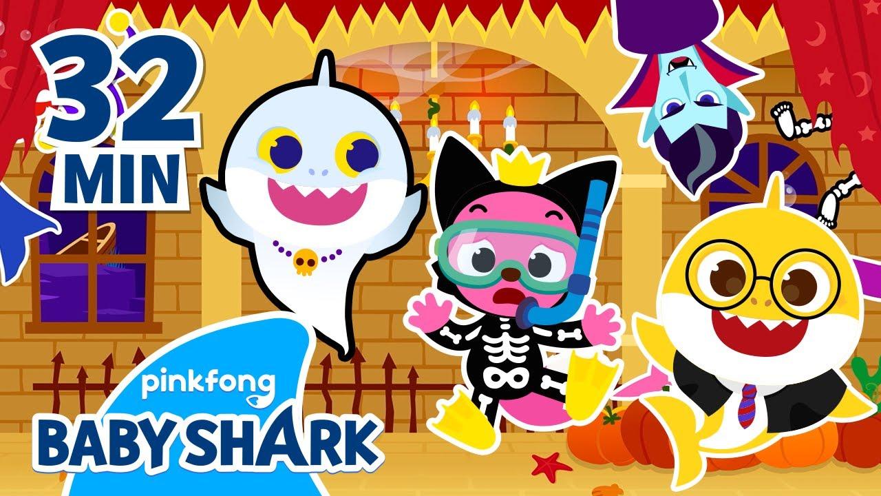 Baby Shark Halloween Hide'n Seek UNITE!   +Compilation   Baby Shark Halloween   Baby Shark Official