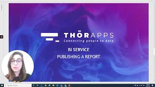 How to publish a report to ThorApps BI Service?