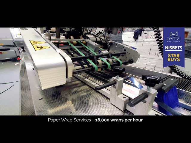 Central Mailing Services New Paper Wrapping Machine!