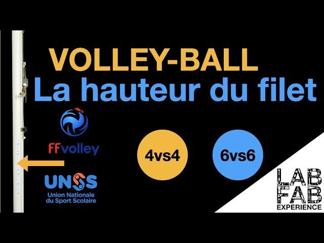 Les règles du Volley-ball - Hauteur du filet en fonction des catégories FFVB UNSS