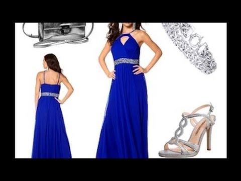 sch ne abendkleider in blau lang und g nstig outfit tipps youtube. Black Bedroom Furniture Sets. Home Design Ideas
