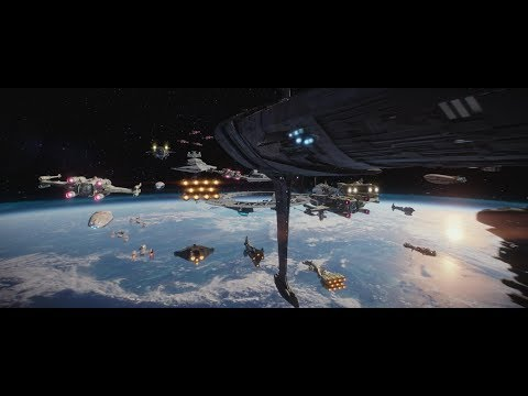 Star Wars Rogue One: FULL Space Battle of Scarif Supercut [1080p] - Better than The Battle of Endor?