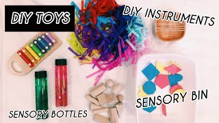 MOMS: TRY THIS WITH YOUR BABY || DIY Sensory Box + Sensory Bottles