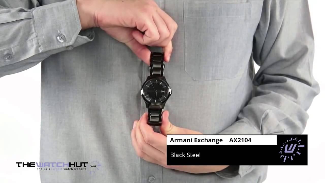 d4c7c4eb2da Relógio ARMANI EXCHANGE AX2104 masculino Preto - YouTube