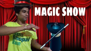 funny magic show // don't try this  magic at home because this is dangerous // 😂😂😂