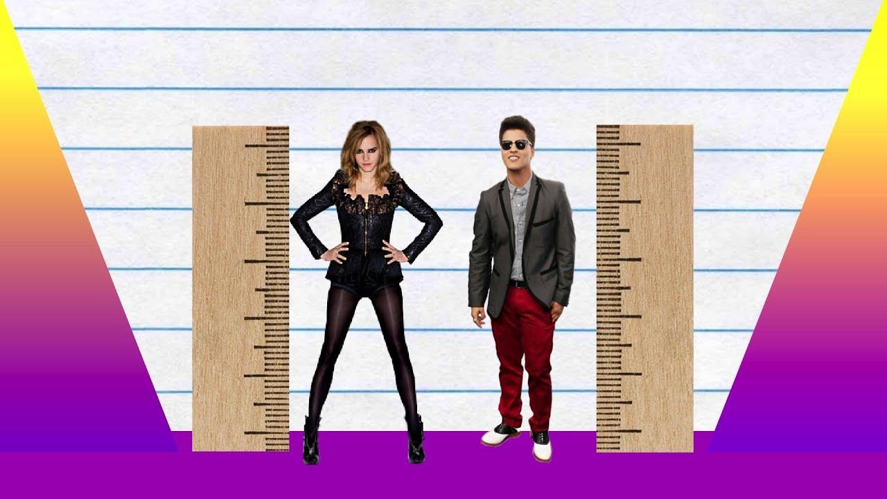 How Much Taller? - Emma Watson vs Bruno Mars! - YouTube