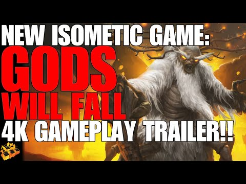 GODS WILL FALL DROPS NEW GAMEPLAY TRAILER!! IN 4K!! NEW ISOMETRIC ACTION ADVENTURE GAME!!