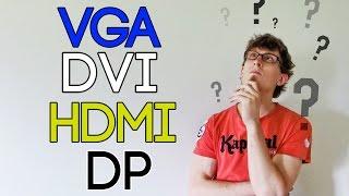 Les connectiques vidéos  - VGA vs. DVI vs. HDMI vs. DisplayPort [5 Minutes Pour]