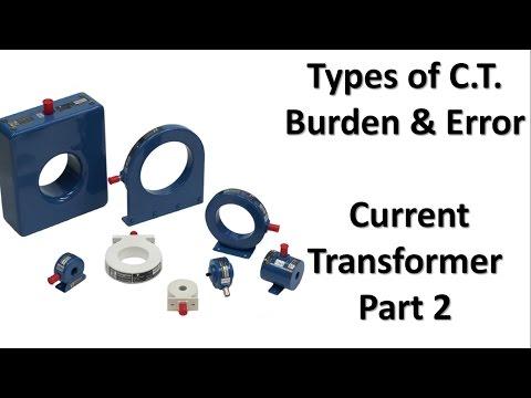 types of current transformer   burden in current transformer error in current transformer