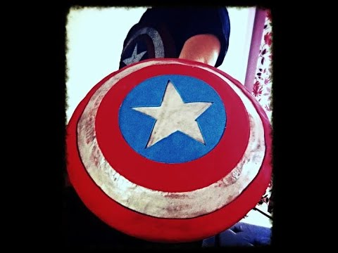 Captain Americas Shield Cake YouTube