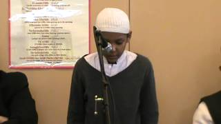 Surah Lahab recited by Juned at DHLNW during Jummah Assembly on 8th March 2013