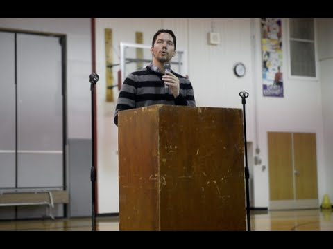 Author Ian Doescher visits Housel Middle School in Prosser
