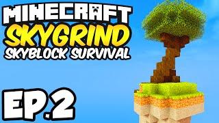 Minecraft Skygrind Skyblock Survival Ep.2   CREEPER NOOO Minecraft 1.8