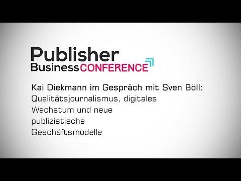 Publisher Business Conference - Kai Diekmann im Gespräch mit Sven Böll