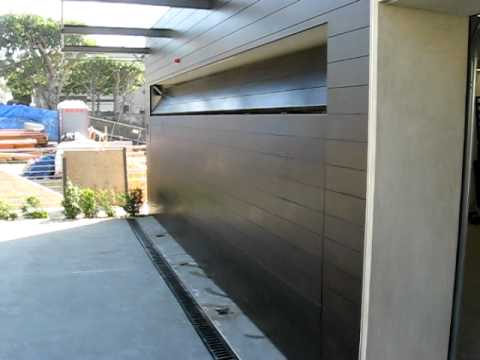 Flush Mounted Custom Wood Garage Door Youtube