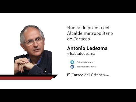 Rueda de prensa Alcalde Metropolitano de Caracas, Antonio Ledezma