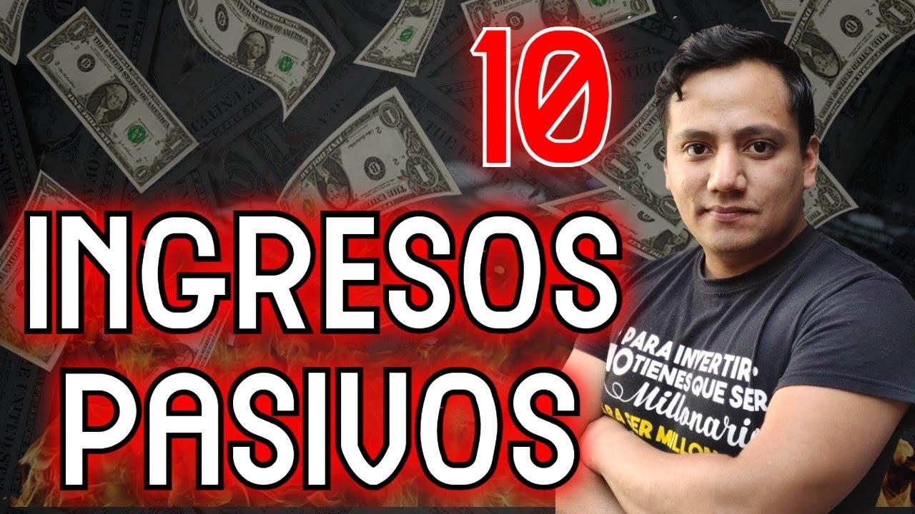 10 Fuentes de INGRESOS PASIVOS (Rentables y escalables)