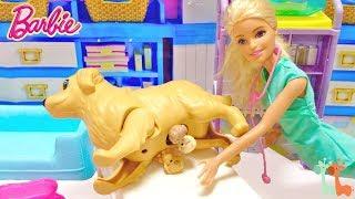 バービー ワンちゃんの出産 赤ちゃんが生まれる / Barbie Newborn Puppies Playset thumbnail