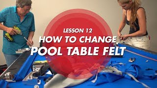 Billiard Tutorial: How t๐ change your pool cloth!!!