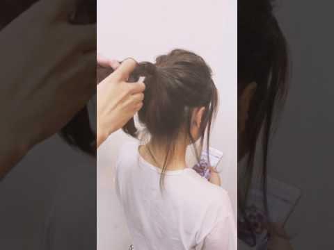 Buộc tóc đẹp đơn giản tiết kiệm thời gian