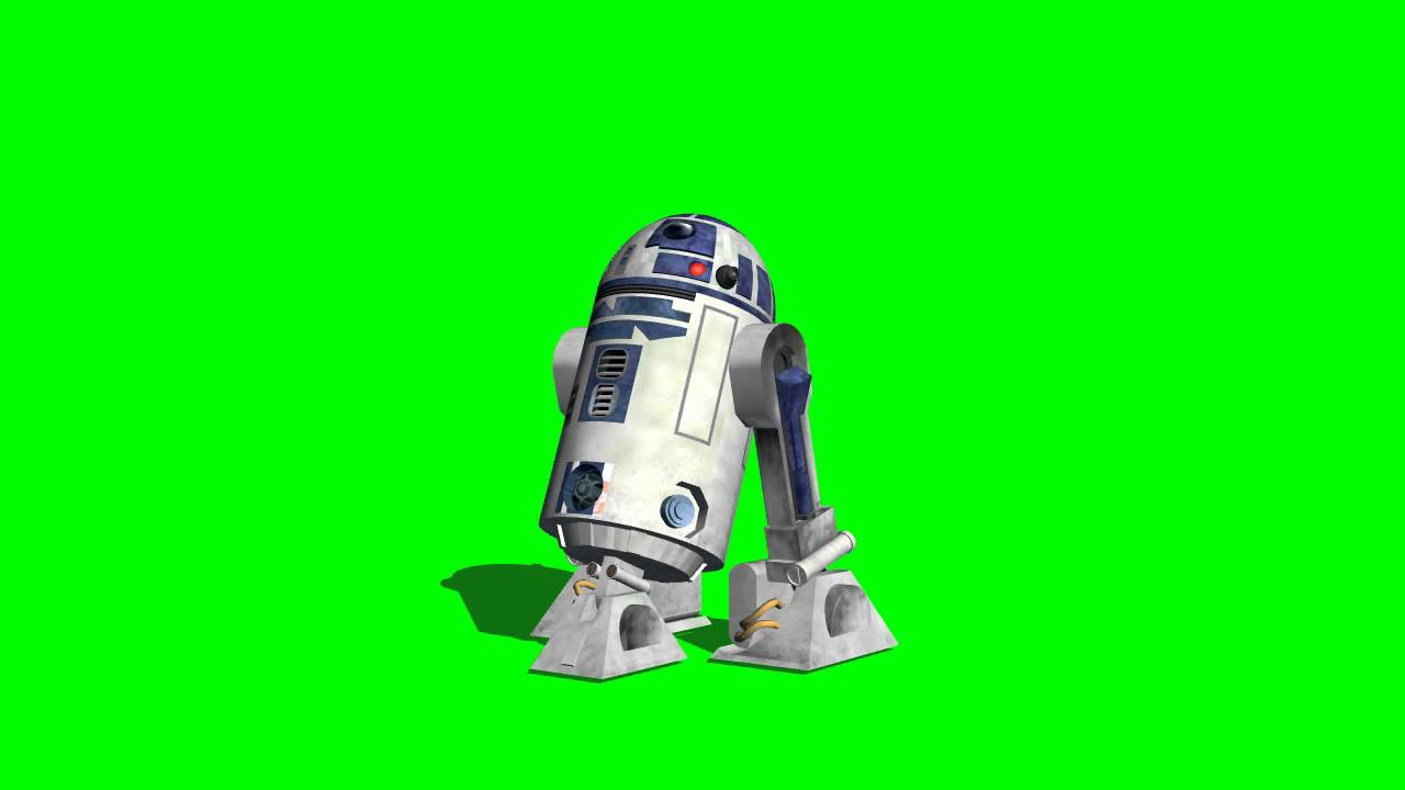 R2d2 In Motion 03 Different Views Star Wars Green